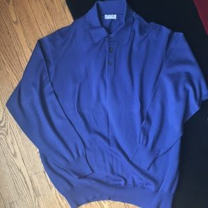 Gran Sasso  blue wool sweater